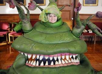 Marie as Audrey II. (Rick Cinclair, Worcester Telegram.)