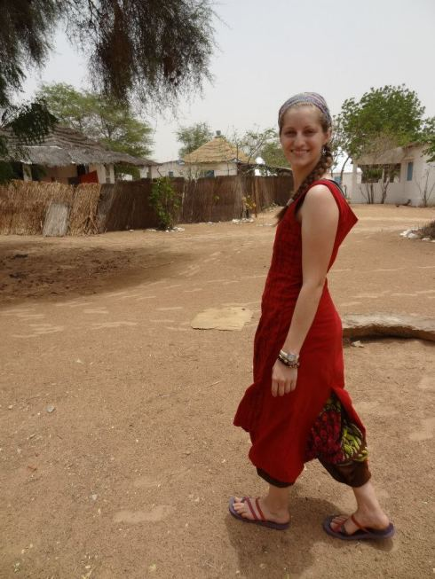 Marie Ebacher at commune in Senegal.