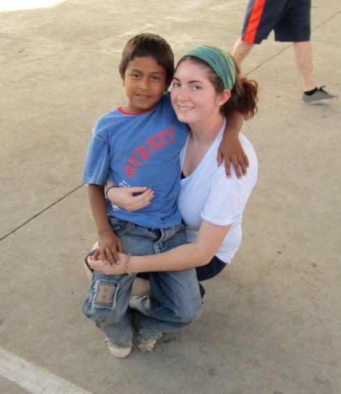 Colleen Putzel with one of her new Ecuador friends.