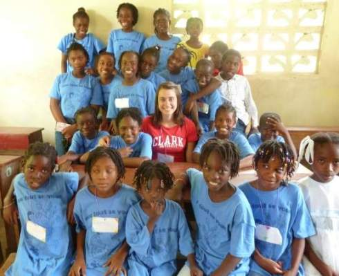 Amanda Mundt two years ago, working at a school in Les Cayes, Haiti.