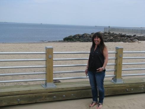 Along the Union Beach shoreline.