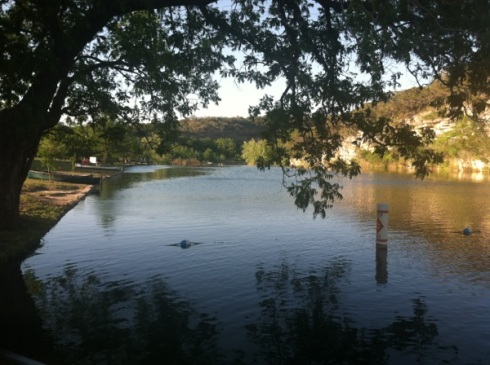 The Guadalupe River from landing next to swimming area.