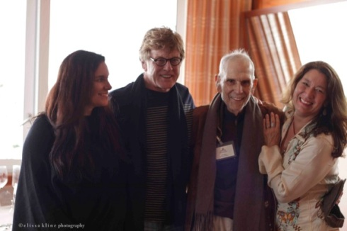 Robert Redford with Bill and daughters Neda (left) and Diana. (Photo by Elissa Kline.)