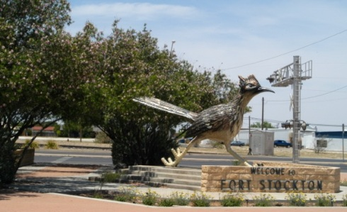The Roadrunner in Ft. Stockton, Texas seems to suggest I get right back on that road to El Paso.